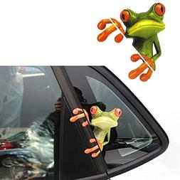 3D Peep Frog Funny Car Stickers Truck Window Decal Graphics