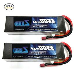 ZEEE 5500mAh 3S 11.1V 40C Lipo Battery with T Plug for RC Qu