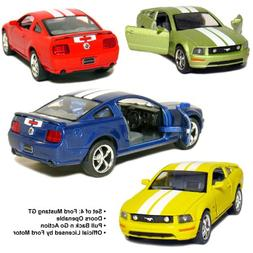 """Set of 4: 5"""" 2006 Ford Mustang GT with Stripes 1:38 Scale  b"""