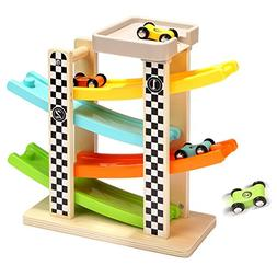 Zhisheng You 4 Level Wooden Ramp Racer Swtichback RaceTrack