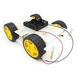 YIKESHU 4WD 2 Layer Smart Robot Car Chassis Kit with Speed E