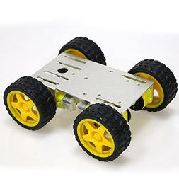 4WD Smart Robot Car Kit with 4pcs TT motor, 65mm Rubber Whee