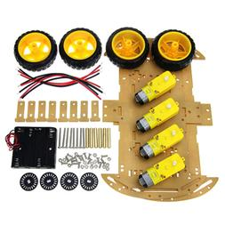 4WD Smart Robot Car Chassis kit for Arduino & 4 jumpers for