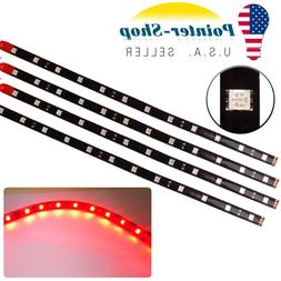 "4x 12""/30CM 5050 Red Flexible LED Light Strip for Car Motor"
