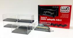 6 DISPLAY CASES FOR 1/64 SCALE MODEL CARS BY AUTOWORLD AWDC0