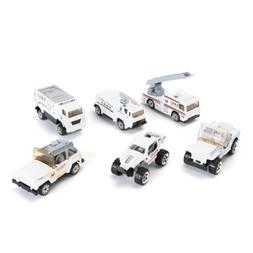 6 Types Diecast Police Vehicle Playset Cars Model Alloy Car