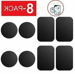 8 Pack Metal Plates Sticker Replace For Magnetic Car Mount M