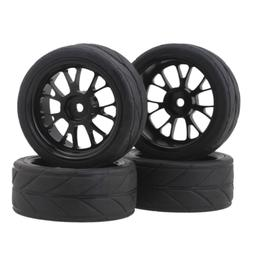BQLZR Y shape Hub Wheel Rim&Tires HSP 1:10 On-Road RC Flat R