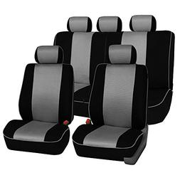 FH GROUP FH-FB063115 Full Set Sports Fabric Car Seat Covers,