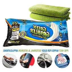 Green Gobbler CLEAN & SHINE Waterless Car Wash Auto Towels f