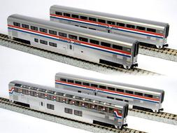 Kato USA Model Train Products Amtrak Superliner Phase III Ca