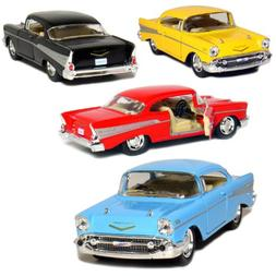Kinsmart Set of 4: 1957 Chevy Bel Air Coupe 1:40 Scale  by
