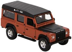 Land Rover Defender 110 Orange 1/32 Scaled Diecast Model by