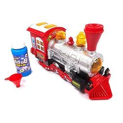Locomotive Steam Train Engine Car Bubble Blowing Bump and Go