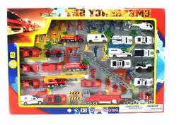 Metro Police Force & Fire Rescue Emergency Crew 44 Piece Min