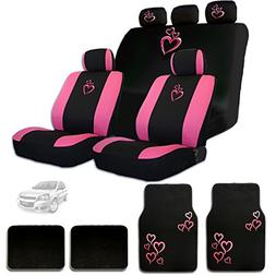 New Large Pink Heart Car Seat Covers with Embroidery Logo He