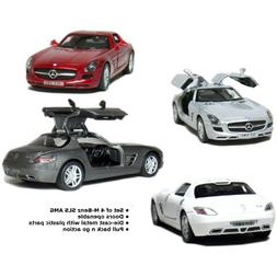 "Set of 4: 5"" Mercedes Benz SLS AMG 1:36 Scale"