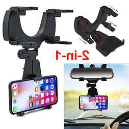 Universal Auto Car Rearview Mirror Mount Stand Holder Cradle
