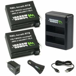 Wasabi Power Battery  and Dual Charger for GoPro HERO4 and G