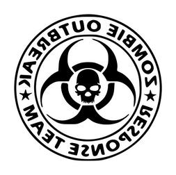 Zombie Outbreak Response Team Skull Vinyl Decal Sticker | Ca