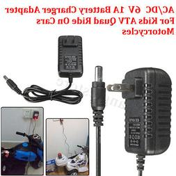 AC/DC Battery Charger Adapter 6V1A For Kids ATV Quad Ride On