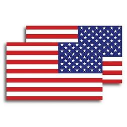 American Flag Magnets 2 Pack 3x5 inch Patriotic Decals for C