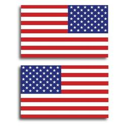 :American Flag Car Magnet Decals -2 Pack 3 x 5 Opposing Hea