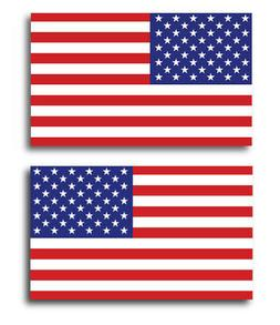 American Flag Magnets 2 Pack 3x5 inch Opposing Flag Decals f
