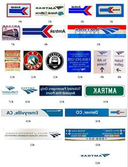 AMTRAK Decals For Engines, Cars, & Layouts