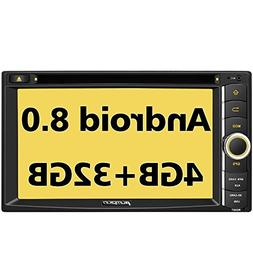 PUMPKIN Android 8.0 Car Stereo Double Din DVD CD Player with