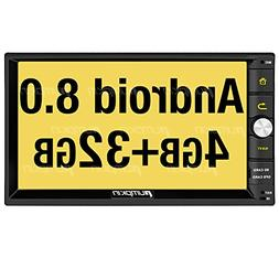 PUMPKIN Android 8.0 Car Stereo Radio Double Din with Navigat