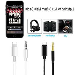 Lightning to 3.5mm Car AUX Audio Adapter Cable For iPhone XS