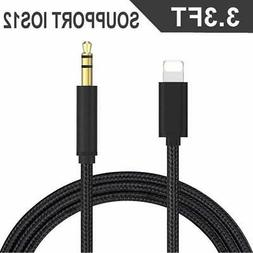 Apple MFI Certified Aux Cable for car Lightning Cord to Male