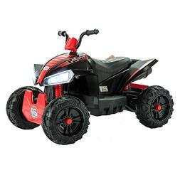 Uenjoy ATV for Kids 4 Wheeler Quad 12V Electric Ride On Car