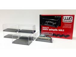 Auto World 6 Pack Display Cases for 1:64 Scale Model Cars CL