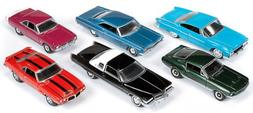 Autoworld Muscle Cars Release B Set Of 6 Cars 1/64 by Autowo