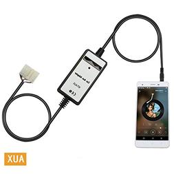Yomikoo Aux Adapter, 3.5mm AUX Interface Car MP3 Player Radi