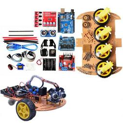 Avoid Tracking Motor Smart Robot Car Chassis DIY Kit 4WD Ult