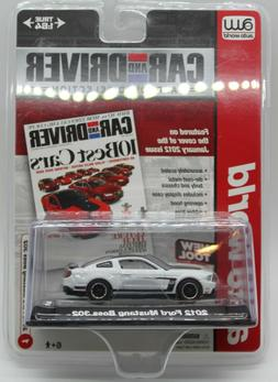 AW Auto World Car and Driver White 2012 Mustang Boss 302 1:6