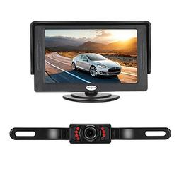 Backup Camera and Monitor Kit For Car,Universal Wired Waterp
