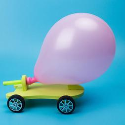 Balloon Powered <font><b>Car</b></font> Recoil Force Science