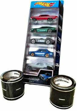 Hot Wheels Fast and Furious Toy Car Bundle With Black Road P