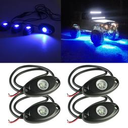 Blue LED Rock Light 4 pods Lights for Off Road Truck Car ATV