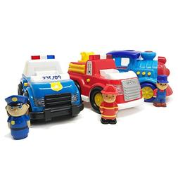 BOLEY Cars for Toddlers - Educational Light and Sound Toy Ve
