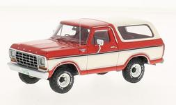 Ford Bronco, red/white, 1978, Model Car, Ready-made, Neo 1:4