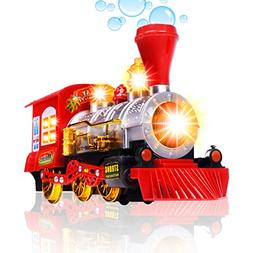 CifToys Bubble Blowing Toy Train - Battery Powered Steam Bub