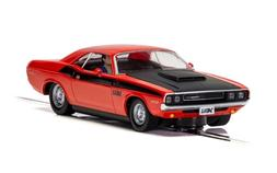 Scalextric C4065 Dodge Challenger - Red & Black 1:32 scale s