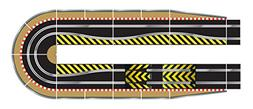 Scalextric C8514 Track Extension Pack Ultimate 1x Leap  Stra
