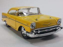 Kinsmart Canary Yellow 1957 Chevy Bel Air 2 Door Coupe 1/40