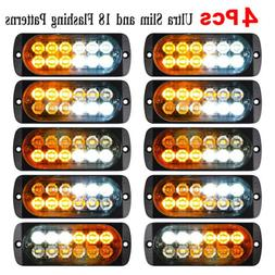 Car 12-LED Strobe Emergency Lamps Surface Mount Flashing Lig